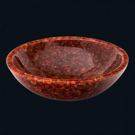 Lavabo sobrencimera redondo resina artificial y piedra Nube