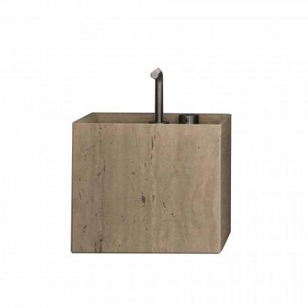 Lavabo de baño de piedra con encimera de diseño cuadrado moderno - Farartlav2