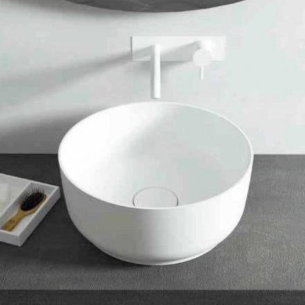 Lavabo sobre encimera redondo de Dalmine, diseño moderno, hecho en Italia