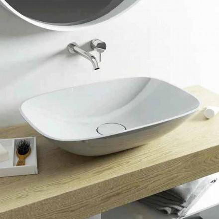 Lavabo sobre encimera de diseño moderno Taormina Medium, hecho en Italia