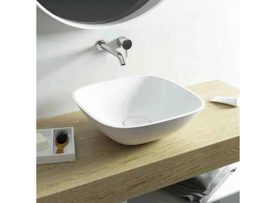 Lavabo de pie y baño cuadrado hecho en Italia Taormina Mini