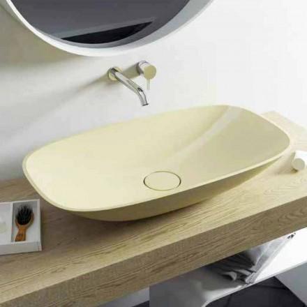 Lavabo sobre encimera de diseño moderno de Taormina Big, hecho en Italia