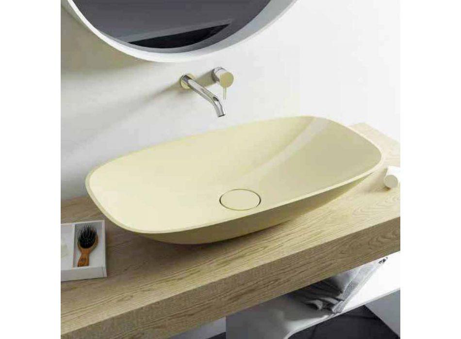 Fregadero de baño de diseño moderno hecho en Italia Taormina Big
