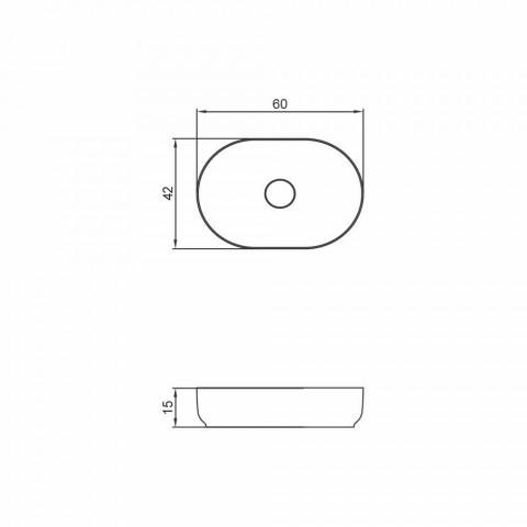 Lavabo de diseño de baño independiente hecho en Italia Dalmine Medium