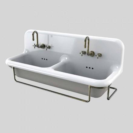 lavabo de cerámica de color doble recipiente con Danny suspendida básica