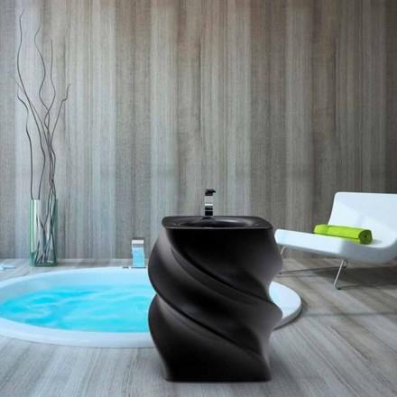 Lavabo de diseño moderno negro lavabo Twist hecho en Italia