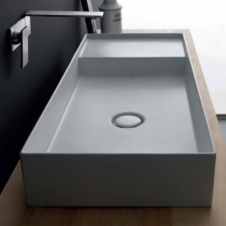 Lavabo rectangular moderno de cerámica Icon Alice Ceramica