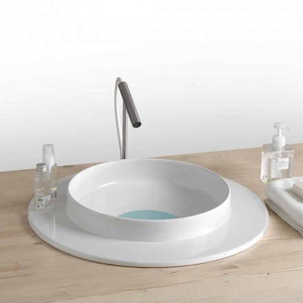 baño Lavabo redondo de cerámica de diseño moderno Kathy