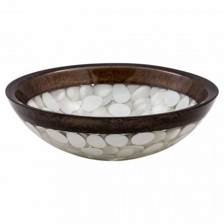 Lavamanos circular de resina, Buguggiate