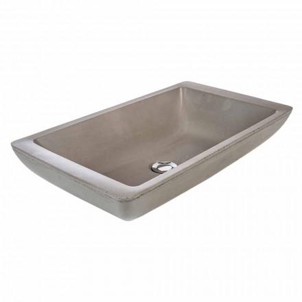 Lavabo de encimera de diseño en tina de cemento hecha a mano