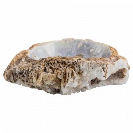 Lavabo sobre encimera hecho a mano en piedra de ágata, Posina