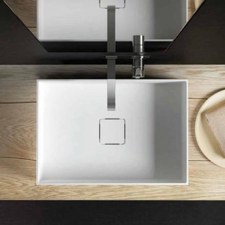 Encimera de lavabo de diseño moderno hecha en Italia, Lavis