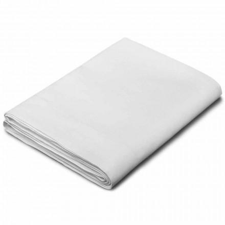 Sábanas King Size, individuales y de tamaño completo en lino blanco Made in Italy - Blessy
