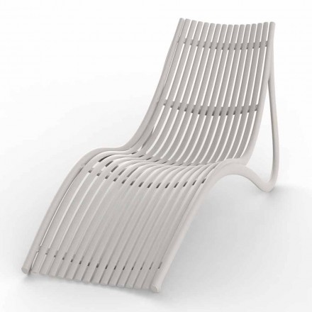 Chaise Longue de exterior en blanco o crudo, 4 piezas - Ibiza by Vondom