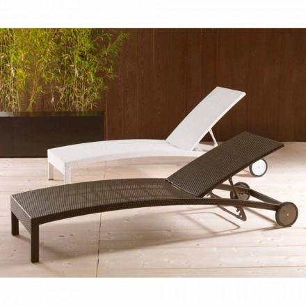 Tumbona con ruedas y respaldo reclinable modelo Sun Bed