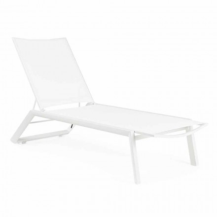 Chaise Longue reclinable al aire libre con ruedas, aluminio y textil - joya