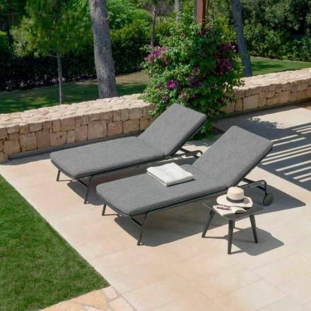 Tumbona de jardín reclinable apilable con ruedas Moon Alu Talenti