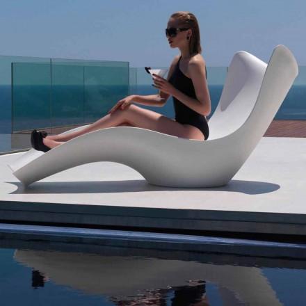Tumbona de exterior moderna, en polietileno, Surf by Vondom