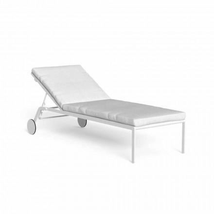 Chaise Longue de jardín reclinable con ruedas de aluminio - Riviera by Talenti