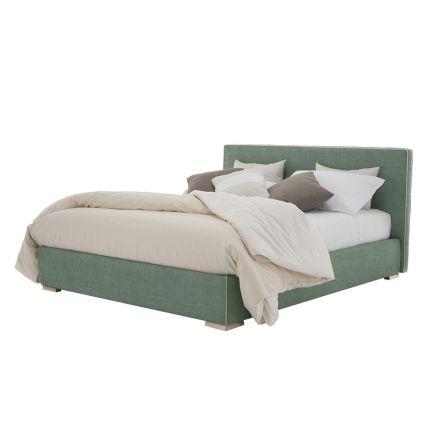 Cama doble de tela o cuero ecológico con contenedor Made in Italy - Etoile