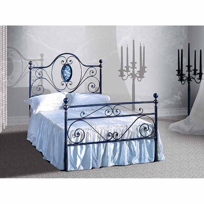 Una cama de plaza y media Hierro forjado Altea