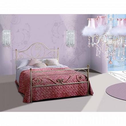 Una cama de plaza y media Hierro forjado Gea
