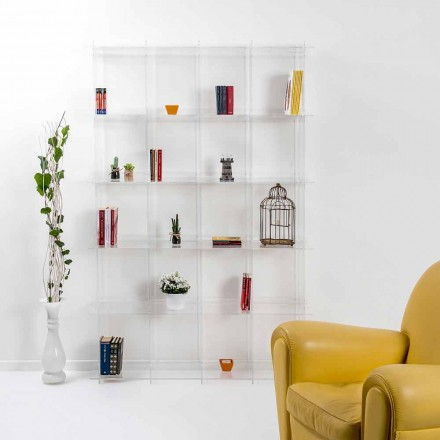 Librería de pared de diseño moderno en plexiglás transparente Sfera4