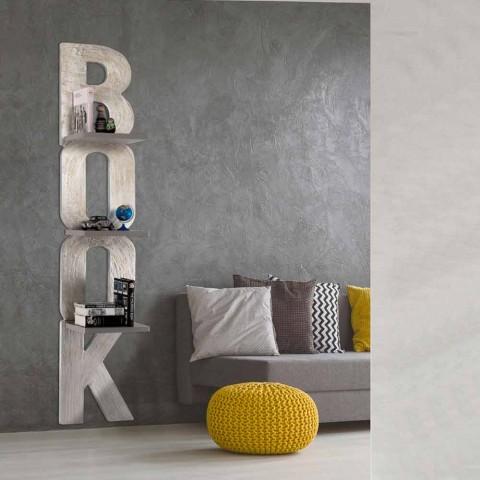 Librería de pared con diseño hecho a mano en Italia 3 estantes Nicla