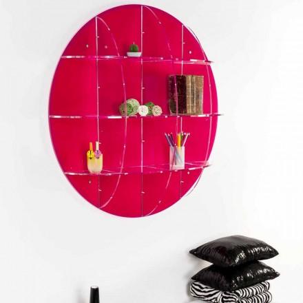 Librería de pared en plexiglás coloreado, producida en Italia, Giofora