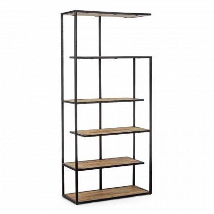 Librería de suelo con estructura de acero pintado Homemotion - Borino