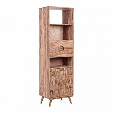 Librería de Suelo con Estructura de Madera Diseño Vintage Homemotion - Ventador