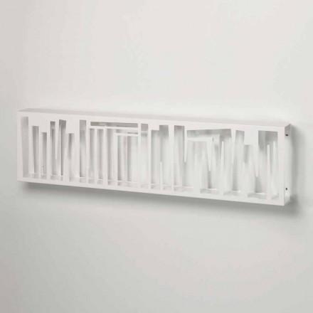 Librería de pared de diseño moderno en metal blanco Made in Italy - Bolivia
