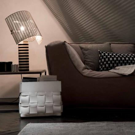 Revistero de pared de cuero de diseño Lory, hecho en Italia