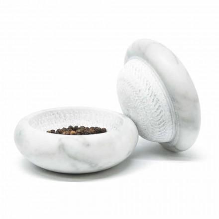 Molinillo de pimienta en mármol blanco satinado Carrara Modern Made in Italy - Faron