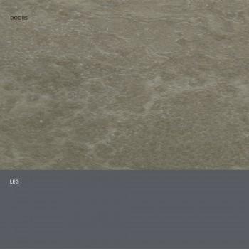 Aparador con puertas en laminado HPL efecto piedra Made in Italy - Fiorenza