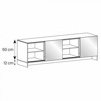 Aparador de diseño de 2 puertas en vidrio ahumado hecho en Italia - Sciocca