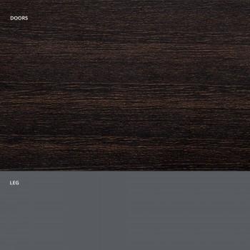 Aparador de salón en madera mate y laminado HPL Made in Italy - Fiorenza
