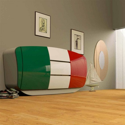 Armario de diseño moderno fabricado en Italia modelo Boom