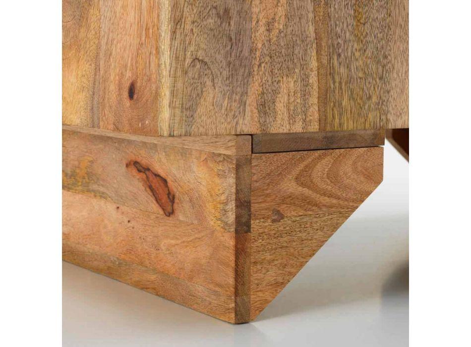 Aparador étnico moderno en madera maciza de mango, Cecina