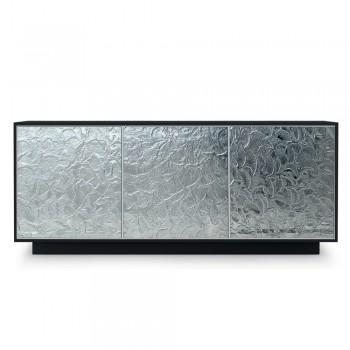 Aparador en madera lacada mate con puertas de vidrio Made in Italy - Fiorenza