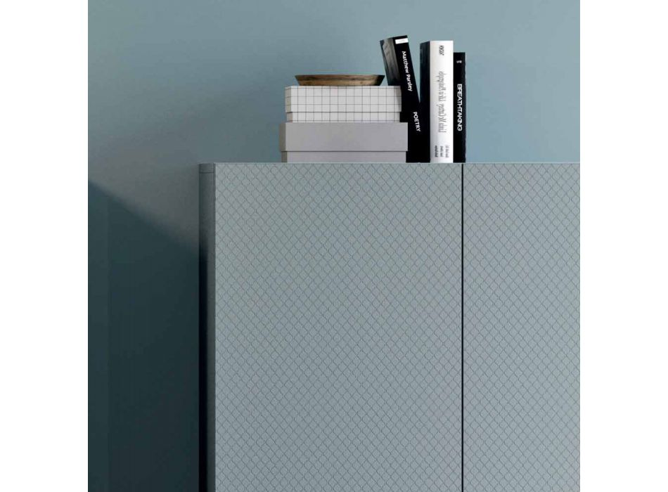 Aparadores de suelo Aparadores de salón minimalistas en madera ecológica 2 piezas - Nazife