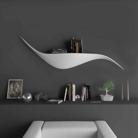 Estantería de pared de diseño moderno hecha en Italia, Tuscania