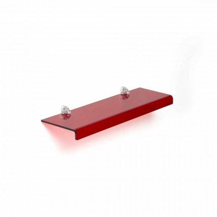 Estantería de diseño moderno L90xP15 cm metacrilato, Jack
