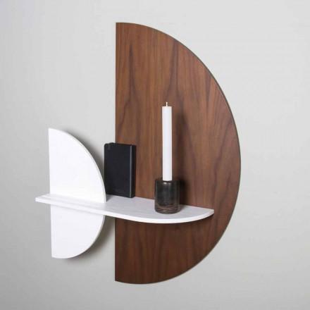 Estantería modular de diseño elegante y moderno en madera contrachapada pintada - Amnesia