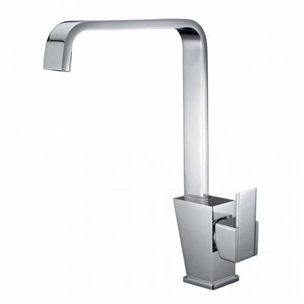 Mezclador con caño regulable para lavabo en latón Made in Italy - Alibi