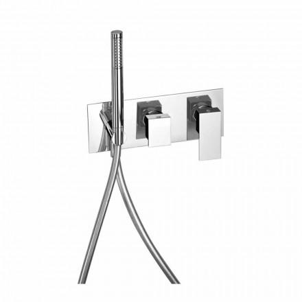 Mezclador de ducha empotrado con desviador de latón Made in Italy - Panela