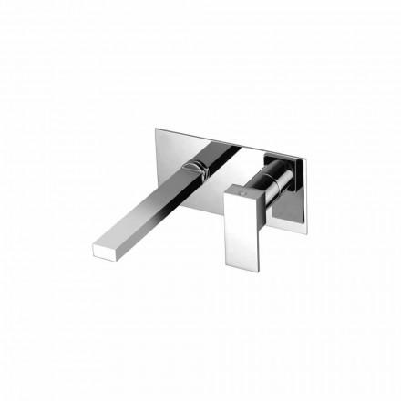 Mezclador de lavabo de pared para baño de una sola placa Made in Italy - Panela