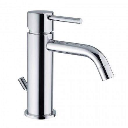 Mezclador de lavabo de baño en latón cromado de diseño moderno Made in Itlay - Liro