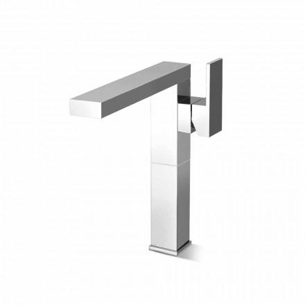 Mezclador de lavabo de caño largo para baño en latón Made in Italy - Panela