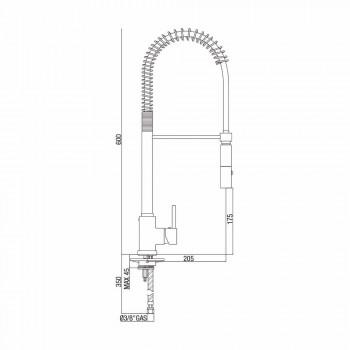 Mezclador de lavabo de cocina ajustable de latón con resorte Made in Italy - Keope